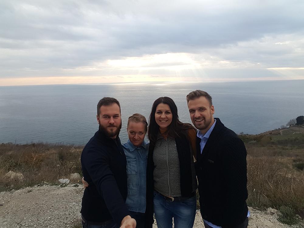 Vier besten Freunde: Neno, Sabina, Juliana und  Perica (Foto: Bla Bla Blog)