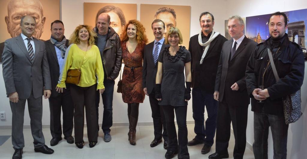 Teilnehmenden Künstler bei der Eröffnung