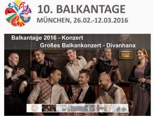Balkantage werben mit alten PR-Fotos von Divanhana. Darauf ist noch die alte Vokalistin zu sehen.
